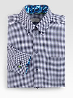 Grungy Gentleman x Eton - Gingham Cotton Dress Shirt