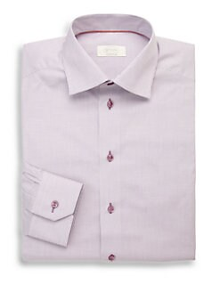 Eton of Sweden - Contemporary-Fit Micro Check Dress Shirt