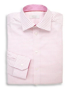 Eton of Sweden - Contemporary-Fit Wide Check Dress Shirt