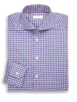 Eton of Sweden - Slim-Fit Windowpane Check Dress Shirt