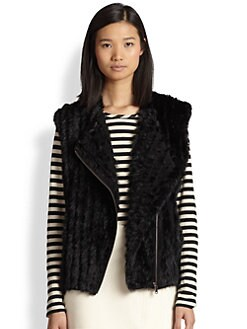 Marc by Marc Jacobs - Abbey Rabbit Fur Vest