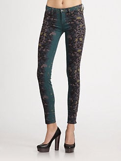Marc by Marc Jacobs - Printed Stick-Denim Jeans