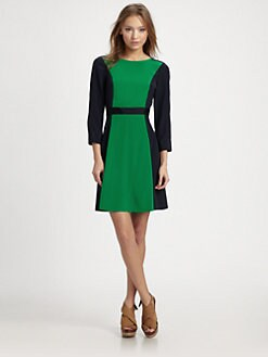 Marc by Marc Jacobs - Avery Silk Colorblock Dress