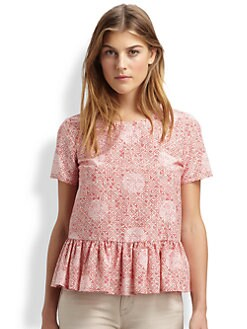 Marc by Marc Jacobs - Jamie Dot Peplum Top