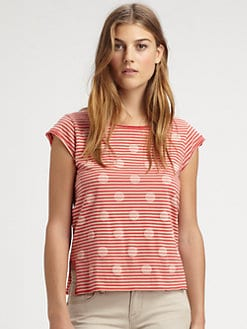 Marc by Marc Jacobs - Willa Polka-Dot Jersey Top