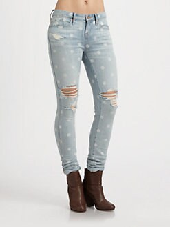 Marc by Marc Jacobs - Lily Polka-Dot Skinny Jeans