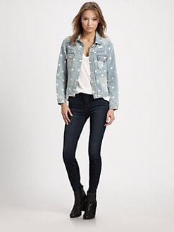 Marc by Marc Jacobs - Lily Distressed Denim Jacket
