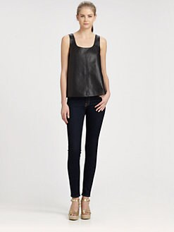 Marc by Marc Jacobs - Jett Leather Tank Top/Phantom