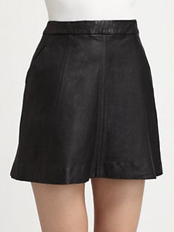 Marc by Marc Jacobs - Jett Leather Mini Skirt