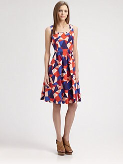 Marc by Marc Jacobs - Taboo Silk/Cotton Print Dress