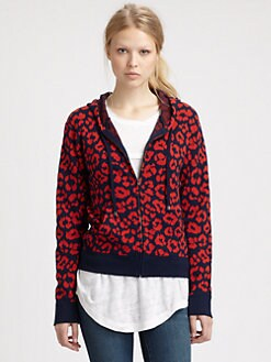 Marc by Marc Jacobs - Lita Cheetah Hoodie