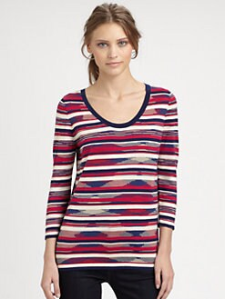 Marc by Marc Jacobs - Marion Silk-Blend Striped Sweater