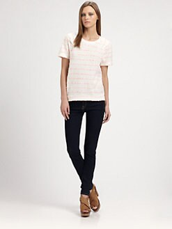 Marc by Marc Jacobs - Fluro Flecked Jersey Top