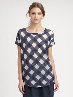 Marc by Marc Jacobs - Check Cotton Gauze Top