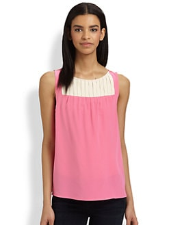 Marc by Marc Jacobs - Bowery Silk Colorblock Top