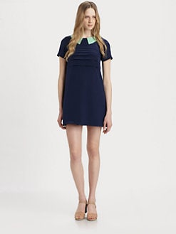 Marc by Marc Jacobs - Bowery Contrast-Collar Silk Dress