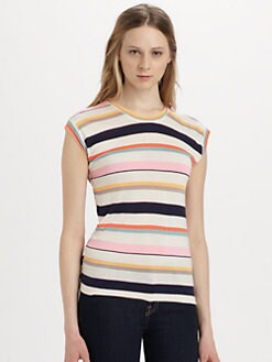 Marc by Marc Jacobs - Smash-Stripe Muscle Tee