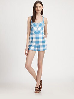 Marc by Marc Jacobs - Harry Check Cotton Jumpsuit