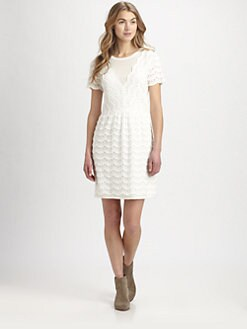 Marc by Marc Jacobs - Tiered Eyelet & Jersey Dress