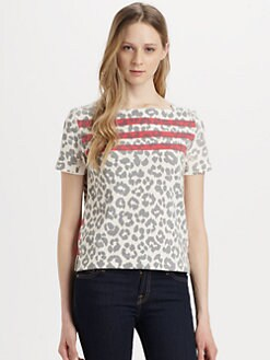 Marc by Marc Jacobs - Dita Cheetah-Print Cotton Tee