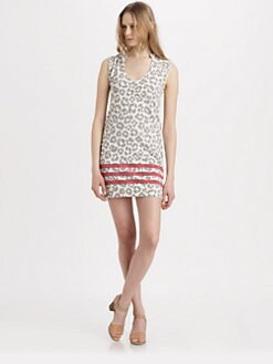 Marc by Marc Jacobs - Dita Cheetah-Print Cotton Dress