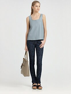 Marc by Marc Jacobs - Jett Leather Tank Top/Empire Blue