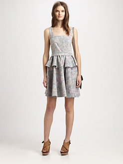 Marc by Marc Jacobs - Drew Blossom Denim Peplum Dress