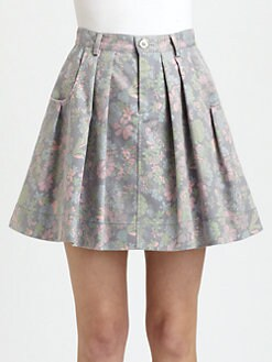 Marc by Marc Jacobs - Drew Blossom Denim Skirt