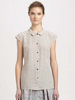 Marc by Marc Jacobs - Izzy Dot Silk Shirt
