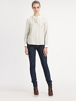 Marc by Marc Jacobs - Lowe Striped Boyfriend Shirt