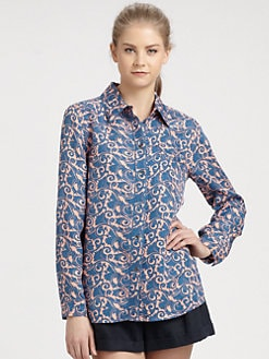 Marc by Marc Jacobs - Tootsie Floral Silk Shirt