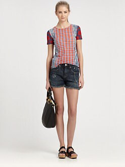 Marc by Marc Jacobs - Check Mix Cotton Tee