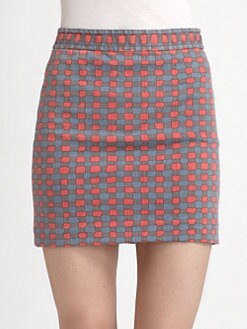 Marc by Marc Jacobs - Molly Check Twill Skirt