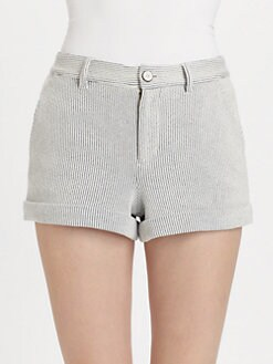 Marc by Marc Jacobs - Cuffed Seersucker Shorts