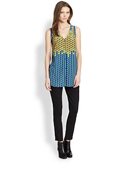 Marc by Marc Jacobs - Paradox Silk V-Back Top