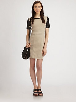Marc by Marc Jacobs - Dempsey Drill Leather-Panel Dress