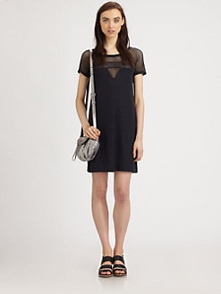 Marc by Marc Jacobs - Mesh-Panel T-Shirt Dress