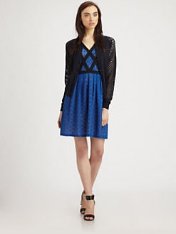 Marc by Marc Jacobs - Cienaga Mesh-Panel Cardigan