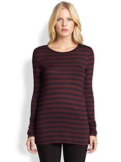 DKNY - Striped Long-Sleeve Tee