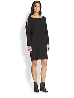 DKNY - Long-Sleeve Cold-Shoulder Dress