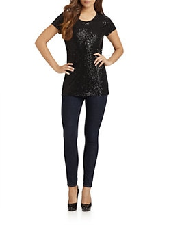 DKNY - Allover Sequin Tee