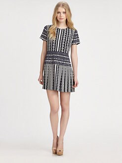 DKNY - Pleated Mini Dress