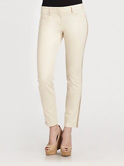 DKNY - Stretch-Cotton Tuxedo Pants
