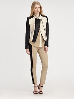 DKNY - Colorblock Moto Jacket
