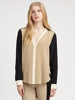 DKNY - Colorblock Blouse