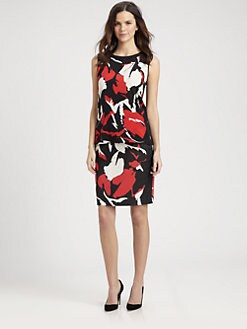 DKNY - Abstract-Print Sleeveless Blouse