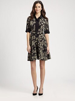 DKNY - Abstract-Print Shirtdress