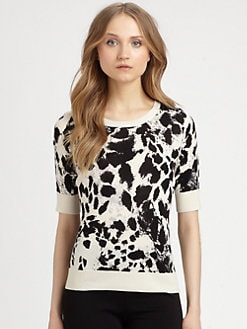 DKNY - Silk/Cashmere Printed Top