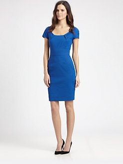 DKNY - Pleated-Neckline Sheath Dress