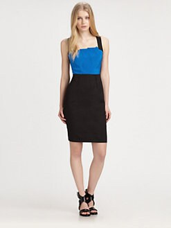 DKNY - Sleeveless Colorblock Dress